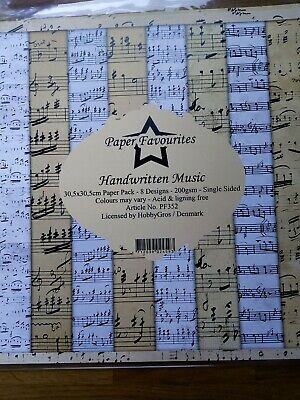 £8.99 • Buy Music 12 X12 Papers By Paper Favourites For Craft Mixed Media Papercraft