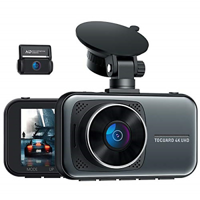 AU167.53 • Buy TOGUARD 4K Dual Dash Cam For Cars UHD 2160P+1080P Front And Rear Dash Camera, 3
