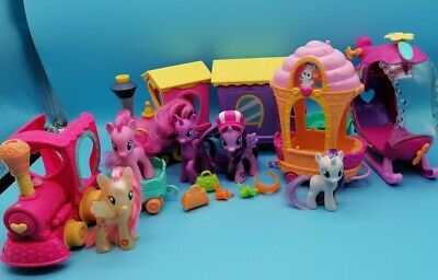 My Little Pony MLP FIM: Playset Bundle Lot Of Ponies & Express Trains Carriages  • 16.99£