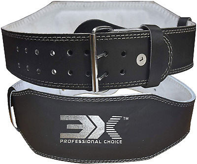 £15.99 • Buy Leather Weight Lifting Belt Pro 4  6  Power Lifting Workouts Deadlift Supports