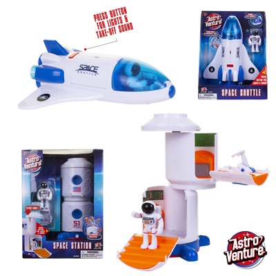 Space Shuttle Rocket Toy With Lights And Sounds Space Station Toy Action Set Kid • 16.99£