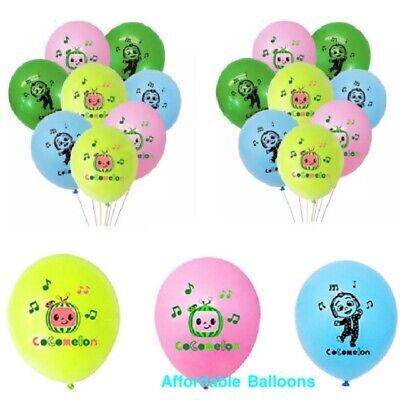 Cocomelon Themed Multi Character Party Balloons X 10 Cocomelon Party Decorations • 3.79£