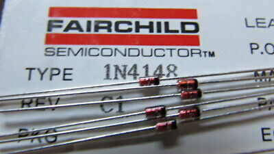 $ CDN9.77 • Buy 1N4148 Fairchild DO-35 100V 200mA Switching Signal Diode USA SHIPS FAST AND NOW!