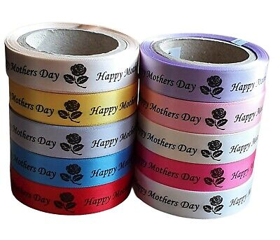 Mothers Day Ribbon Rolls 10 Colours Available 15mm X 5 Metres 14/03/21 • 3£