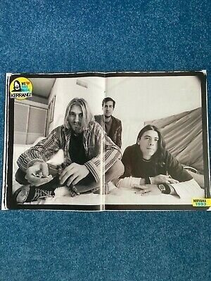 £2.99 • Buy Nirvana/Foo Fighters Double Sided Centerfold Poster - Kerrang!