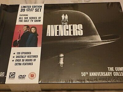 The Avengers: The Complete 50th Anniversary Collection DVD Original UK Releas R2 • 325£