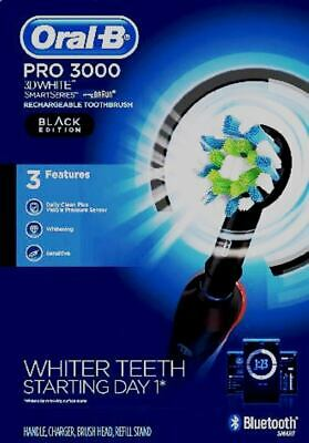 AU69.44 • Buy Oral-B Pro 3000 Smart Series Rechargeable Toothbrush, Bluetooth Smart