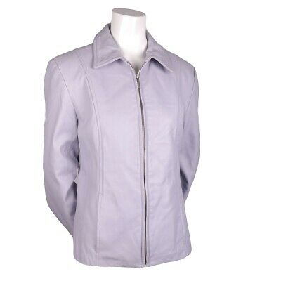 $ CDN115 • Buy DANIER Bomber Scuba Lilac Purple Leather Jacket Coat Size Small