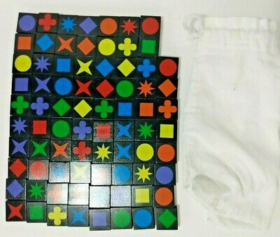 $ CDN12.65 • Buy Qwirkle Board Game Replacement Or Craft, 78 Tiles, Draw String Bag