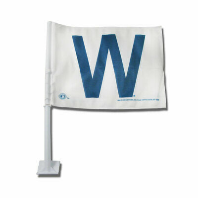 Chicago Cubs White Car Flag With Blue W (Win Logo) • 12.29£