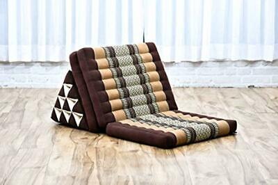 £132.93 • Buy Home Floor Seat With Back-Rest TV Pillow Brown Triangle Thai-Cushion Mattress