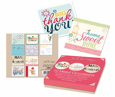 Multi Pack X 8 Mixed Assorted Thankyou Get Well Birthday New Home Greeting Cards • 3.75£