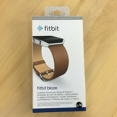$ CDN22.46 • Buy Fitbit Blaze Leather Accessory Replacement Band & Frame Sz Large NEW Camel OEM