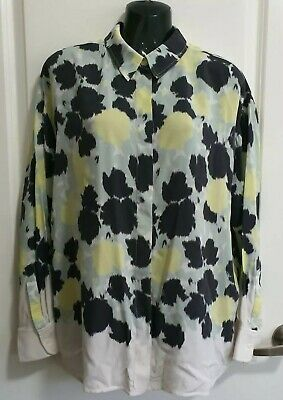 AU150 • Buy SCANLAN THEODORE 100% SILK Abstract Print L/S Shirt In Mint, Size 12