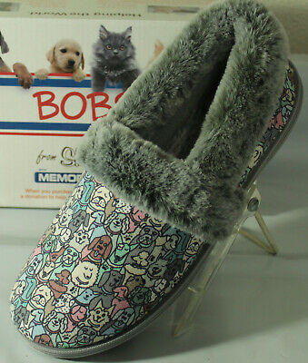 Bobs From Skechers Too Cozy Pooch Parade Dog Print Women's Slippers,  33351/gymt • 30.38£