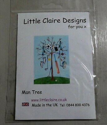 Little Claire Designs Clear Stamps - Man Tree - Sports, Socks • 3.99£