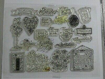 All Occasions Clear Stamp Set - New Home, Wedding, Engagement, Baby, Mum, Dad • 3.99£
