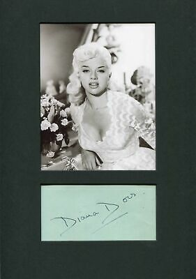 £82.16 • Buy Diana Dors TOP Autograph, Signed Album Page Mounted