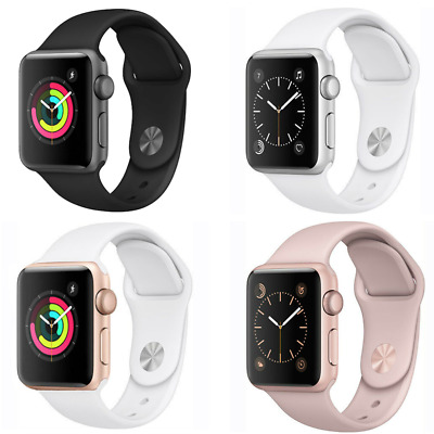 $ CDN156.61 • Buy Apple Watch Series 1 42mm GPS Aluminum Smartwatch Space Gray Gold Silver Rose