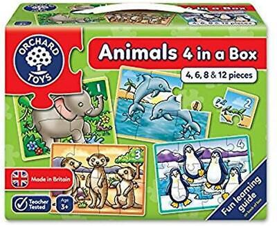 £7.95 • Buy Orchard Toys Animals Four In A Box First Puzzles | 18 Months +