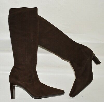 £16.27 • Buy Valerie Stevens Coley New Sz 9 M Brown Stretch Suede Tall Knee High Boots