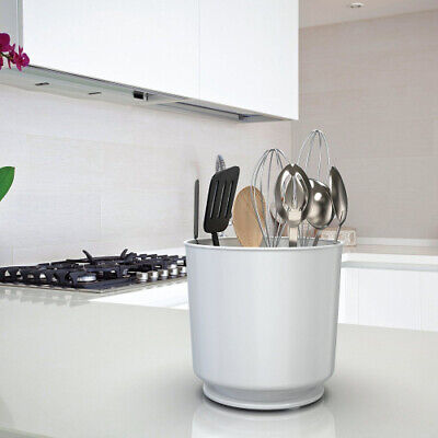 AU66.25 • Buy (White) - Extra Large Rotating Utensil Holder Caddy With Sturdy No-Tip