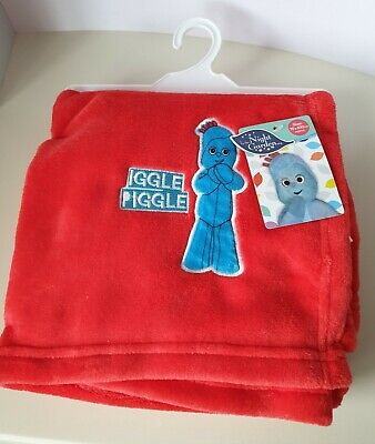 In The Night Garden Iggle Piggle Snuggly Soft Red Blanket, Comforter-Brand New • 6.20£
