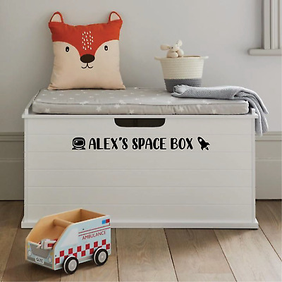 £5.99 • Buy Personalised Kids Toy Box Sticker Decals | Various Colours & Designs
