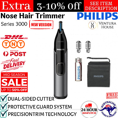 AU55.19 • Buy Philips Norelco Nose Trimmer 3000 Mens Ear Eyebrow Nasal Hair Cordless Shaver AU