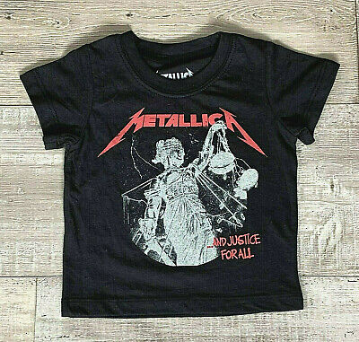 £10.19 • Buy Metallica Toddler Unisex Justice For All T-Shirt Black 12M 18M Cotton NWOT