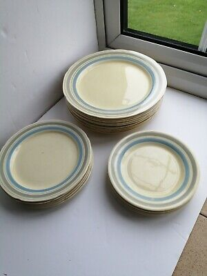 £25 • Buy Vintage Exmoor Pattern Bovey Tracey Plates X 19