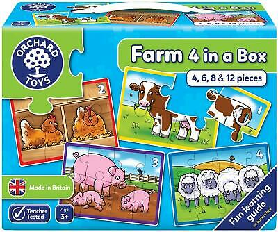 £6.95 • Buy Orchard Toys Farm Four In A Box First Puzzles | 18 Months +