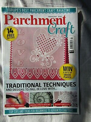 £2.50 • Buy Parchment Craft February 2017