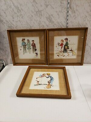 $ CDN157.58 • Buy Vintage Norman Rockwell Framed Prints Young Love Lot Of Three