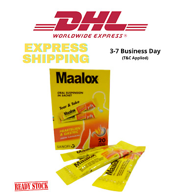 $38.80 • Buy MAALOX PLUS SIMETHICONE SUSPENSION 20'S For Relief Gastric, Stomach Wind DHL
