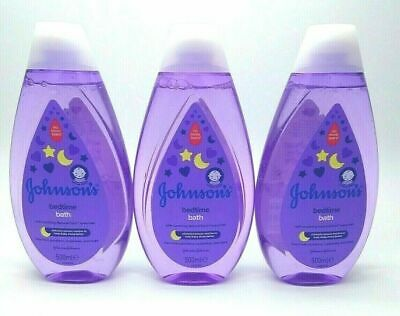 £9.95 • Buy JOHNSOn'S Bedtime Bath 500ml Gently Cleanses No More Tears Everyday Cleansing X3
