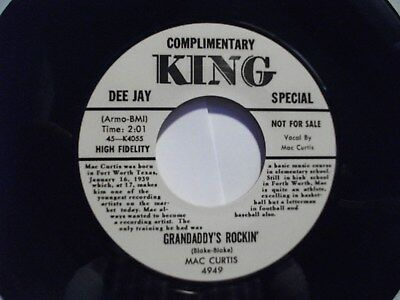 Repro King MAC CURTIS Rockabilly 45 - Grandaddy's Rockin  FREE POSTAGE           • 8.99£