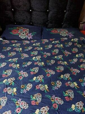 Kingsize Sugar Skull Duvet Cover And  2 Pillowcases • 9.99£