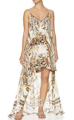 New Camilla Franks Olympe Ode High Low Mini Dress With Overlay XL Uk 16 14 12 • 199.99£