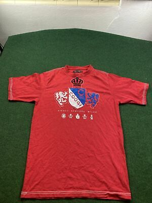 AU33.41 • Buy Coogi Mens Graphic Shirt Red Size XL Embroidered Spell Out Cotton T-Shirt