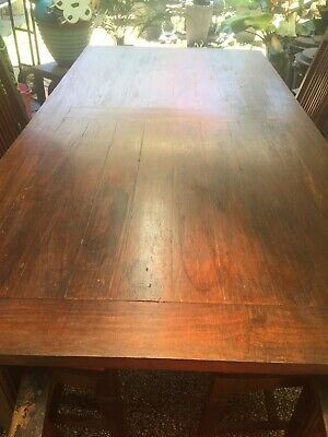 AU55 • Buy Timber Dining Table And 8 Chairs