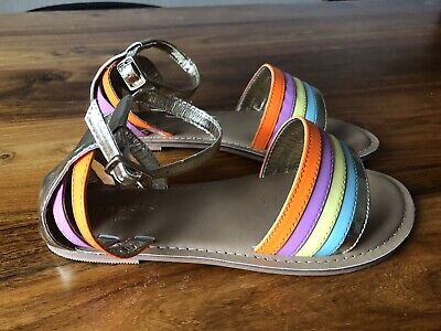GIRLS Colourful Gladiator RAINBOW SANDALS FROM ACCESSORISE BNWT 2 • 4£