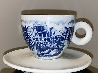 Rare Illy Art Cappuccino Cup & Saucer By Rufus Willis 2005 • 45£