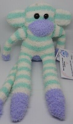 £6.50 • Buy Sock Monkey Minty Mothers Day Gift Hand Made Soft Toy Green And White Stripe