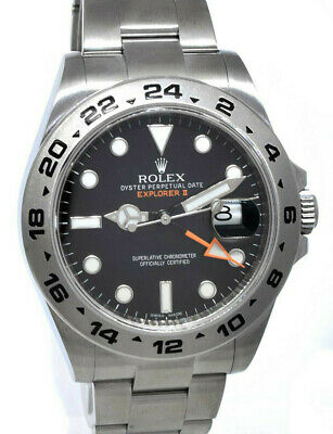 $ CDN12173.18 • Buy Rolex Explorer II Stainless Steel Black Dial Mens 42mm Automatic Watch 216570