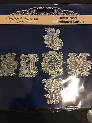 Tattered Lace Joy And Noel Illuminated Letters Metal Craft Dies • 5.50£