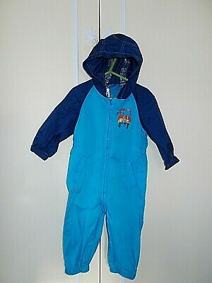 Baby Boy's Hooded Splash Suit By Next (age 12 / 18 Months) Blue • 1.45£