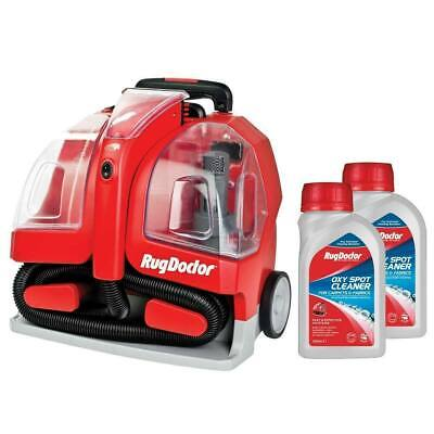 Rug Doctor Portable Spot Carpet Cleaner With 2 Pack 500ml Spot Cleaning Solution • 193.89£