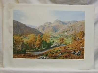 Print Great Langdale Keith Melling Signed Lake District England • 1.99£