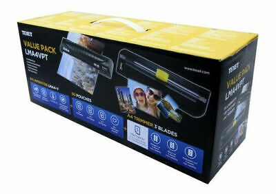 TeXet Home Office Personal A4 Hot Laminator Trimmer 150 Lam1inating Pouches • 10£